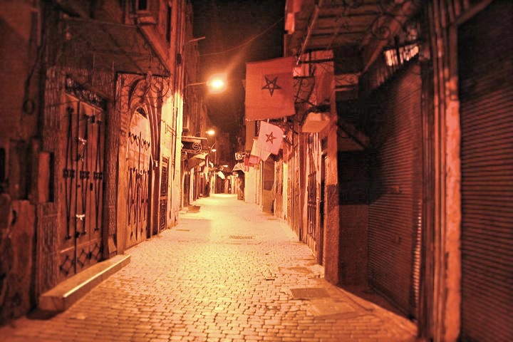 Alleyways of Marrakesh at night