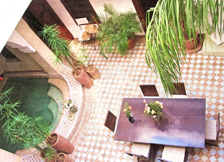 Beautiful riads with internal pools, Marrakesh Morocco