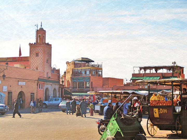 Marrakesh town centre and main square