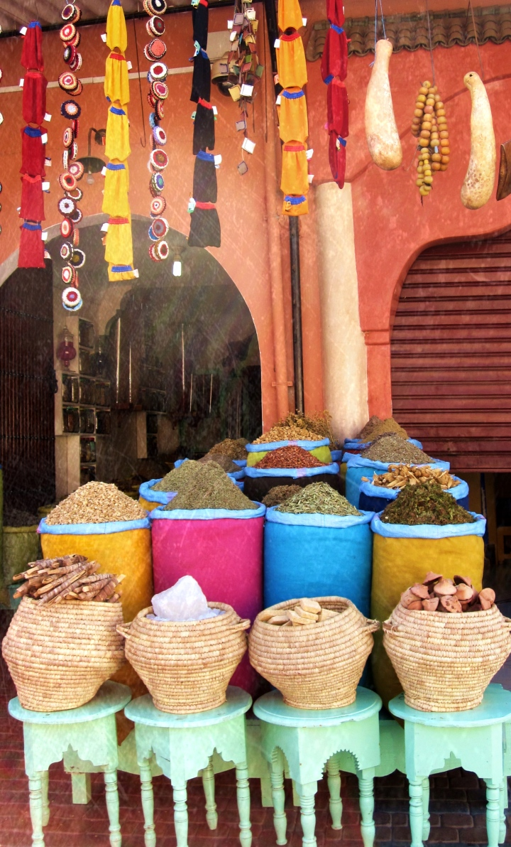 Spices sold at Marrakesh Souks