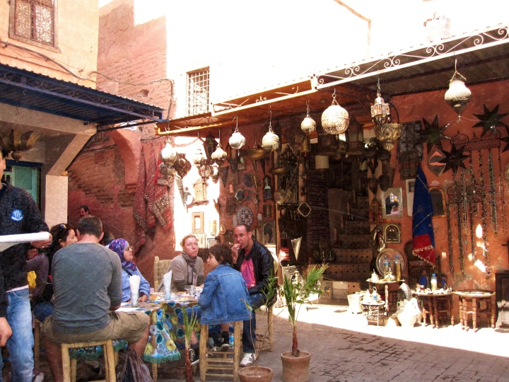 Local restaurants, souk markets, Marrakesh