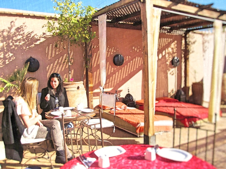 Riads with lovely roof top terrace Marrakesh Morocco