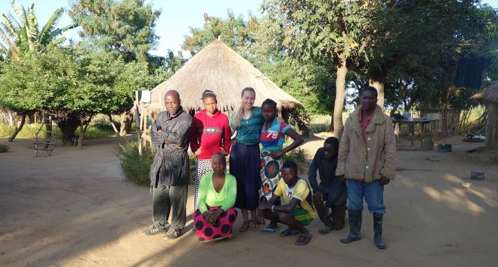 My host family in Kafalulu, Zambia