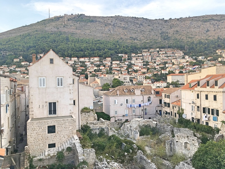 Views from old city walls in Dubrovnik