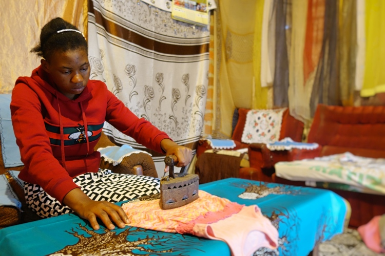 Sharon ironing