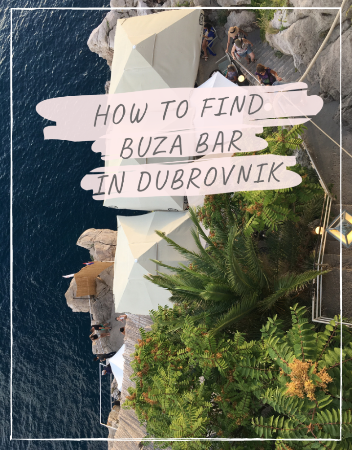 How to find Buza bar in Dubrovnik