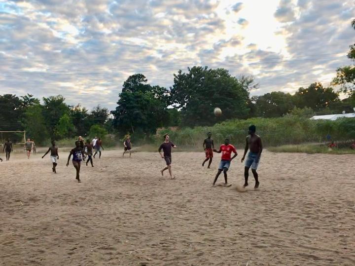Villagers Kande Beach Lake Malawi