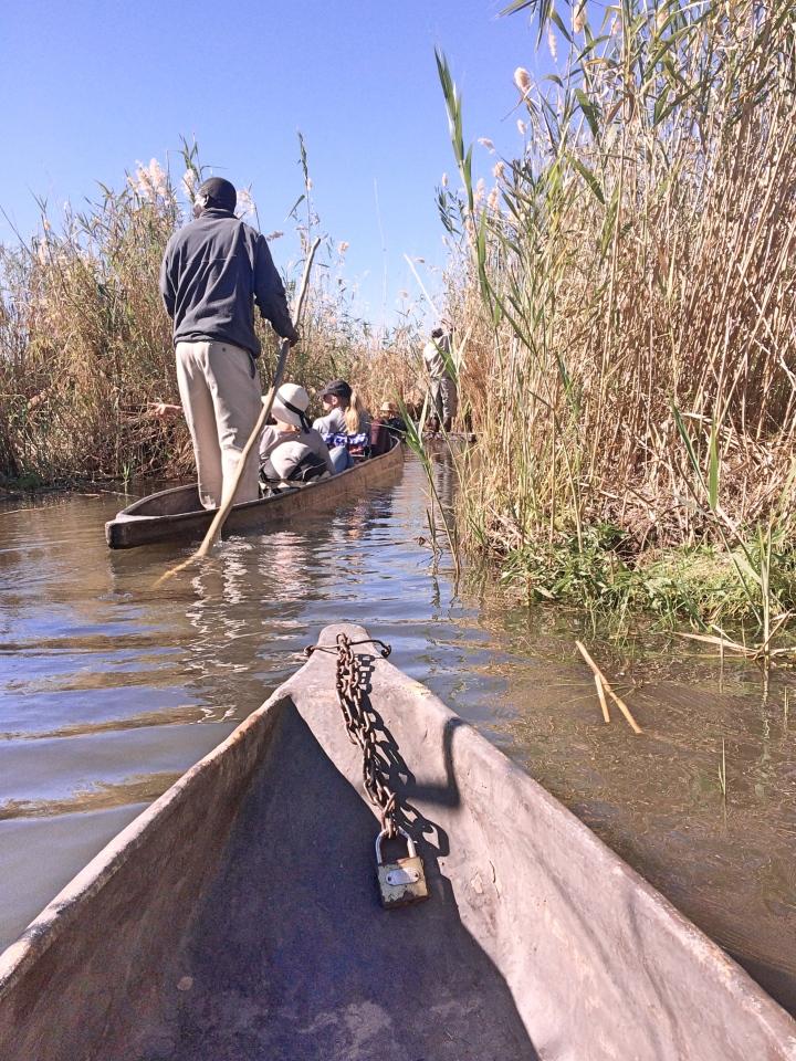 Canoeing in the Okavango Delta