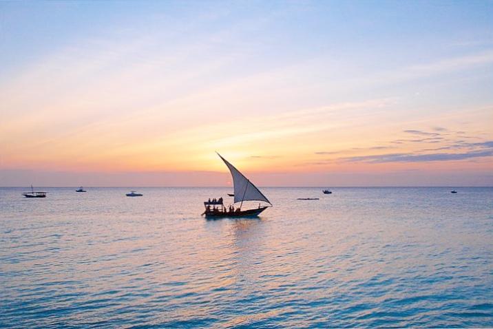Doha boats in Zanzibar