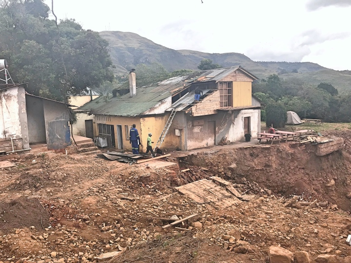Chimanimani landslide damage cyclone Idai