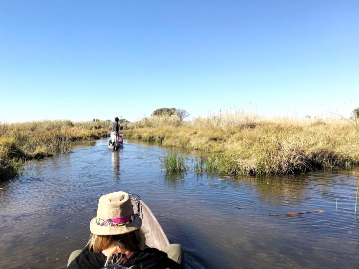 Botswana Okavango Delta mokoro ride