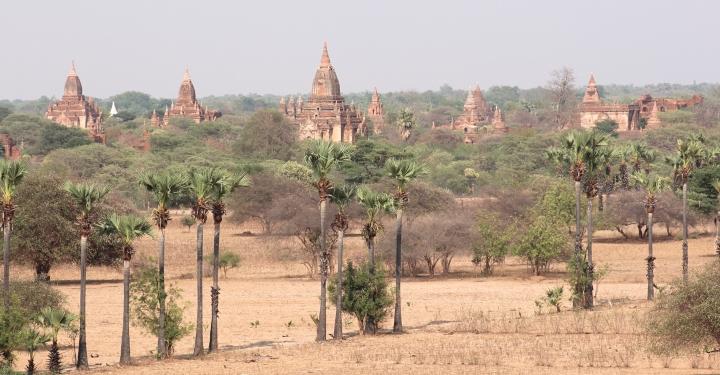 Decadent ancient temples of Bagan