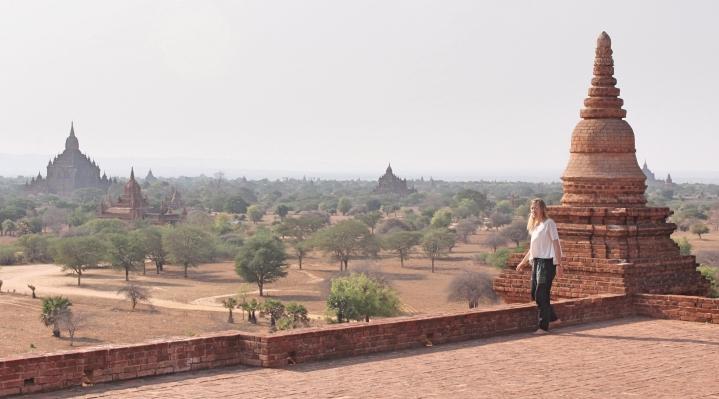 Beautiful scenery ancient temples of Bagan